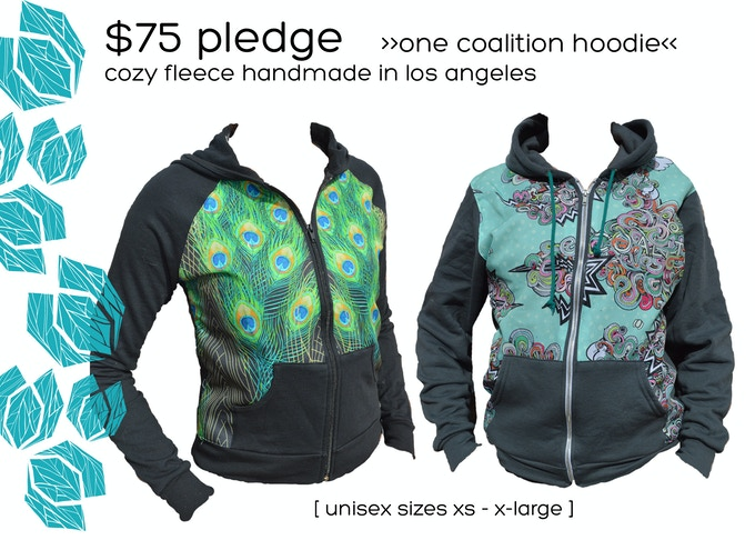 $75 Pledge  |  Panel Hoodie  |  Collaboration with Apliiq