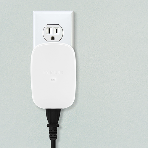 The Nyrius Smart Outlet will still allow you to use the top outlet receptacle in your home