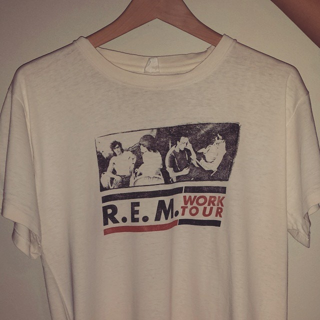 My REM tour shirt from 1985.