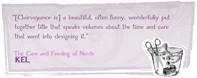 Click here for Kel's full review at The Care and Feeding of Nerds.