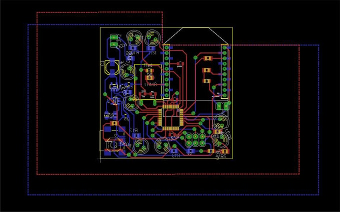 The PCB layout for a second stage device