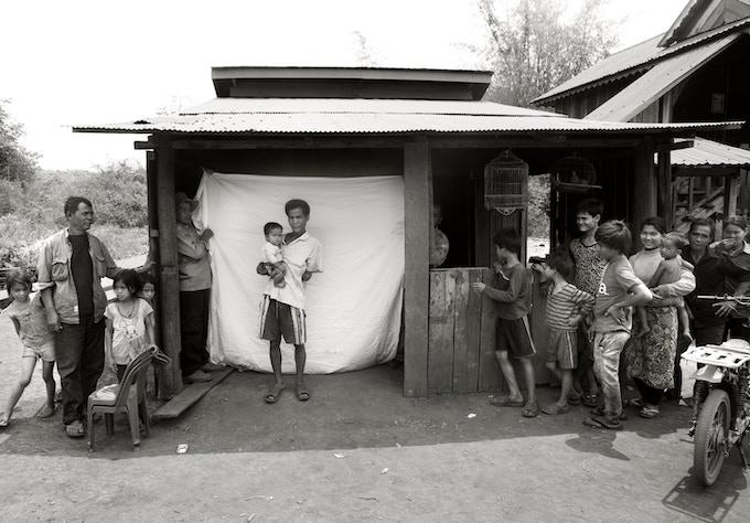 Vanthy Fo at my makeshift studio in Cambodia