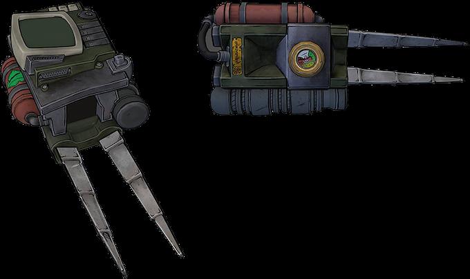 Funk 1980's Arm Module. Predator Blades Meets Fallout's Pip Boy