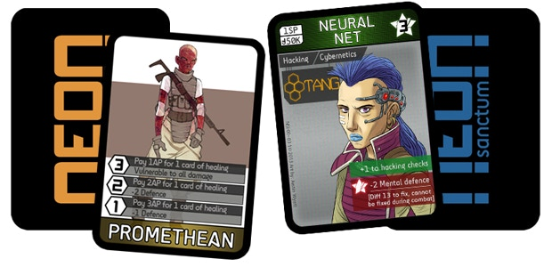 Mutant(left) and cybernetics Cards - Click to see more!