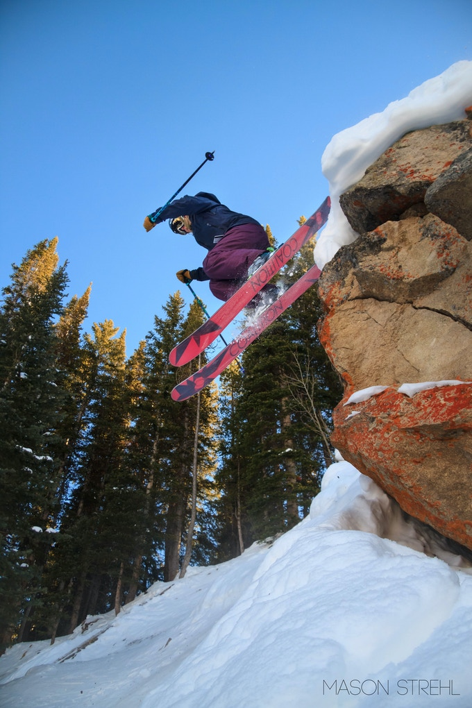 Team Rider Sierra Sawyer getting after it in Crested Butte, CO