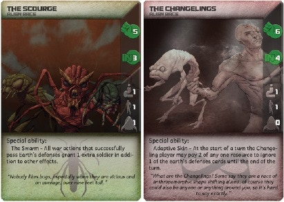 Example Alien Race Cards