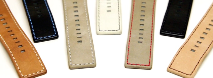 Suede and Natural Leather Bands