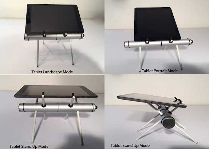 Tablet version meets you exactly where you are - standing - sitting - typing - accommodating conveniently with or without a case.