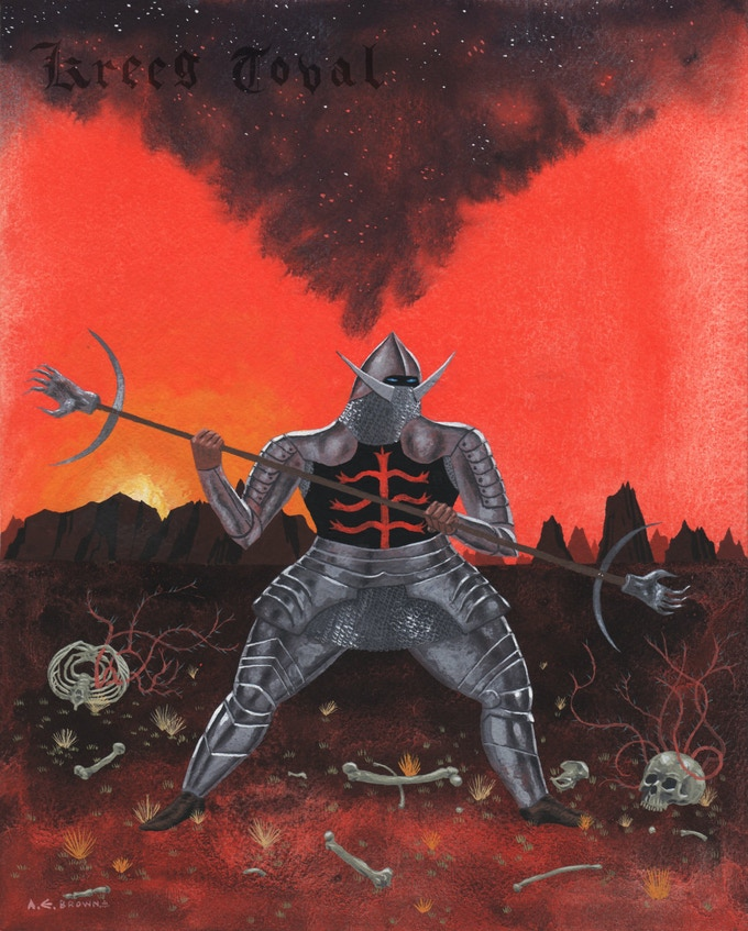 Original art by Alan Brown