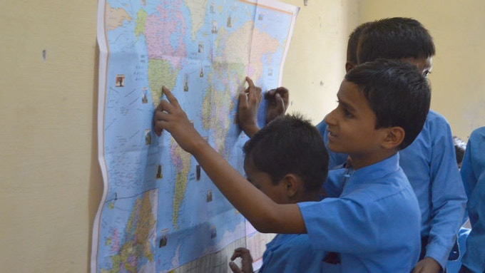 The pen pal experience provides students a chance to get tangible insights into their peers around the world