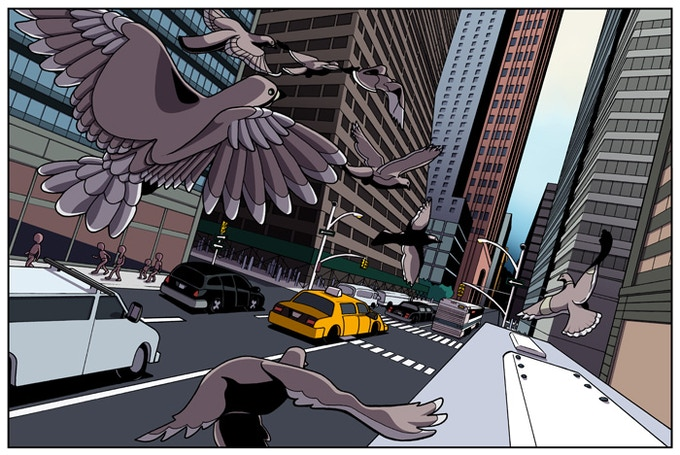 They city is as much a character as Luiza is. Each location is set in NYC and this scene can be seen if you go to Madison Ave. & 51st Street in Manhattan, the cover to Volume 1 is located on 21st and Park avenue...