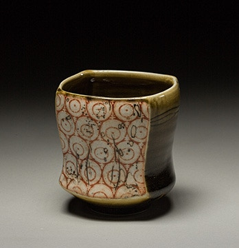 Megan Mitchell, Cup with Silkscreen Transfer and Slip Inlay $40
