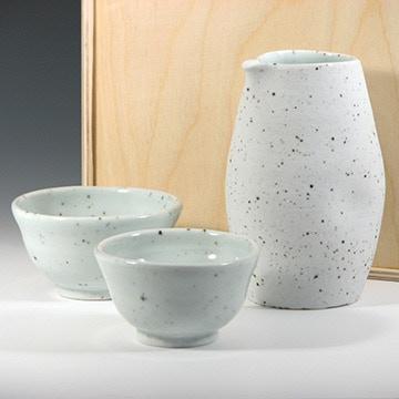 Dania Lukey, Sake Set Spotted Porcelain with custom Birchbox, $90