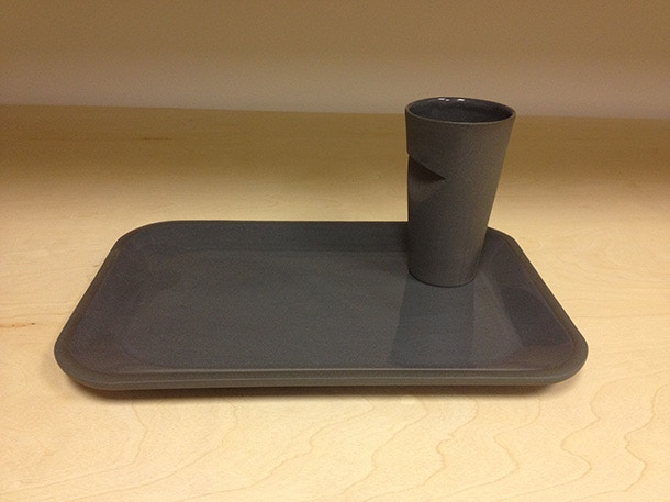 Tyler Nansen, Cup and Plate set, Slip cast Porcelain with Black Stain $100