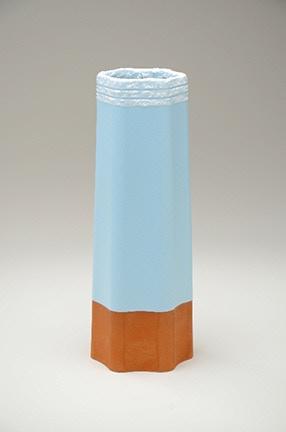 """Tyler Lotz, Red Stoneware Vase, 4x4x11.5"""" $160"""