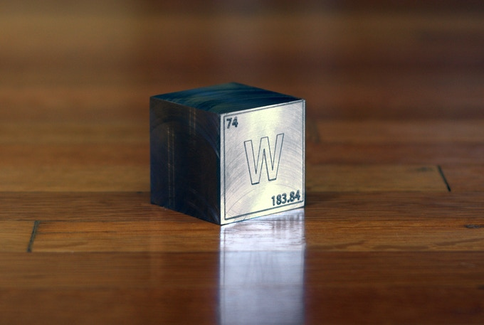 Engraved Tungsten Cube