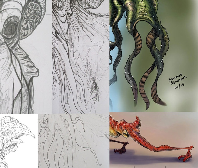 Some fragments of our concept art so far to whet your appetite.