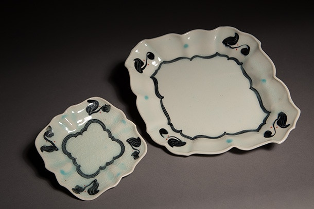 Andrew Martin, Small and Large Plate Set, $170