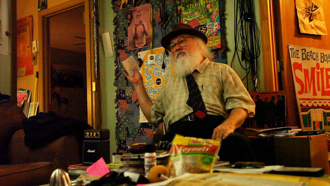 R. Stevie Moore looking dapper in his natural habitat, at home in Madison TN.