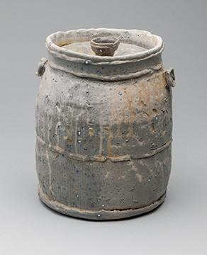 "Scott Parady, Lidded Jar 10x7"" $225"