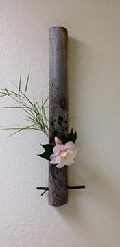 "Tri Tran, Wall Hanging Vase Woodfired, 22.5x2.5"" $300"