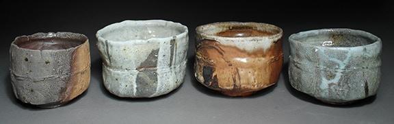 Scott Parady, Woodfired Teabowls, 1,2,3,4 $300 Ea.