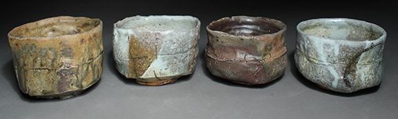 Scott Parady, Woodfired Teabowls, 5,6,7,8 $300 Ea.