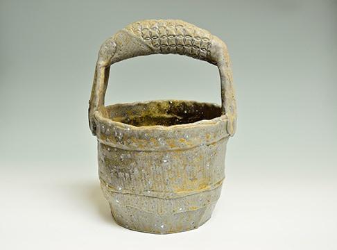 "Scott Parady, Woodfired Well Bucket, 12x8.5x7.5"" $325"