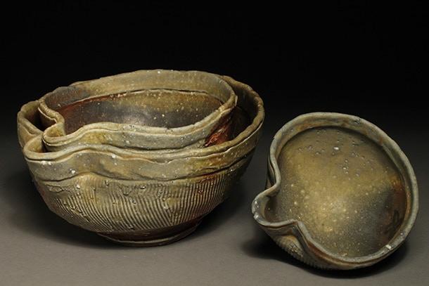 Scott Parady, Set of three Spouted Nesting Bowls $350