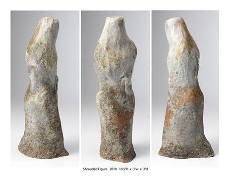 "Bill Schwob, Shrouded Figure, 10x3x3"" $450"