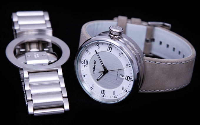 """2SE on Suede Leather Band - Optional Stainless Steel """"Steam Roller"""" Bracelet"""