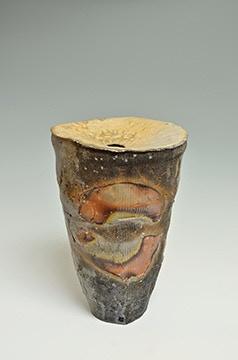 "Scott Parady, Woodfired Concave Vase, 12x8x7"" $750"