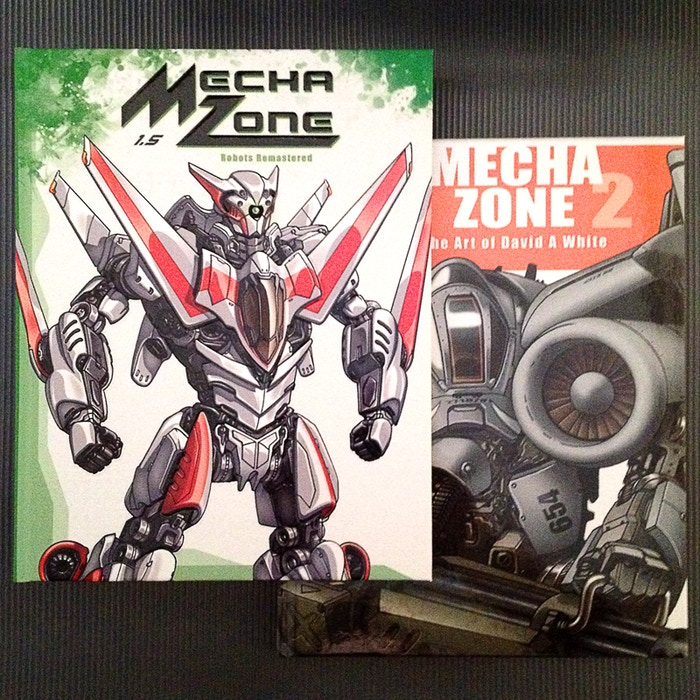 NOW AVAILABLE!Mecha Zone is an exciting art book that collects the creative and larger-than-life robot designs of illustrator David White.