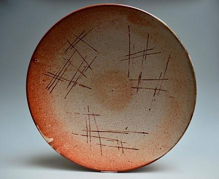 "Warren Mackenzie, Platter, 17.5x3.5"" Donated by Trax Gallery in Berkeley, Ca $800"