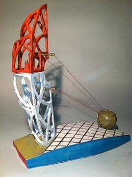 """Chuck Owens, Navigating Space, 15x13x5"""" $850"""