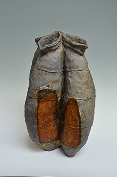 """Scott Parady, Large Woodfired Flower Container, 19x13x12"""" $1500"""