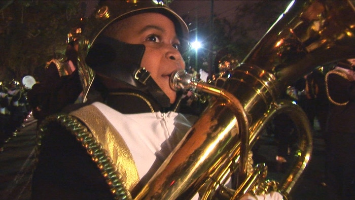 New Orleans marching bands: The powerful engines that drive the Mardi Gras Parades. The front line in a battle for survival.