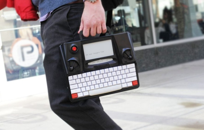 The Hemingwrite is a distraction free writing tool with modern technology including a mechanical keyboard, e-paper screen and cloud backups.