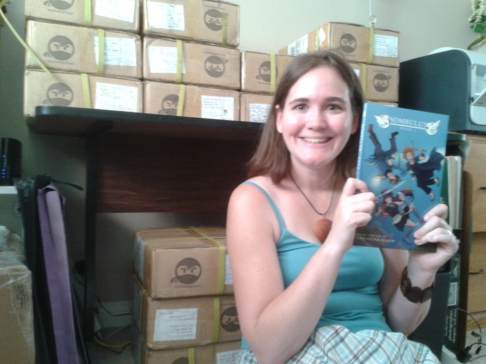 My first print run of my fantasy adventure comic, Sombulus, was a great success! The story continues online, and in an all new book in 2015!