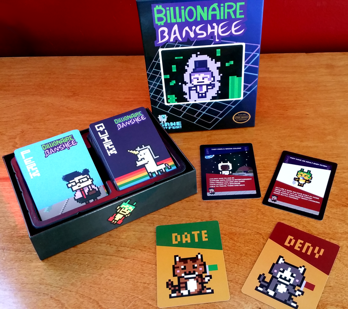 Would your friends date a Billionaire Banshee? How about a  Dominatrix Cyclops? A card game to reveal secrets about friends!