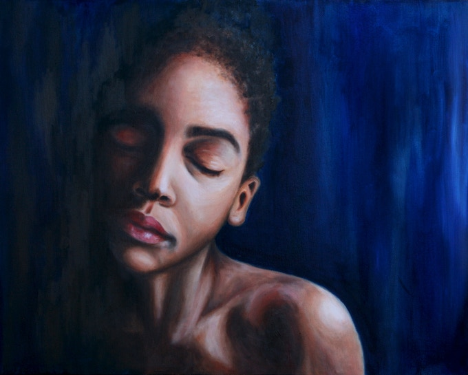"""One of my recent paintings called, """"Pause"""":"""