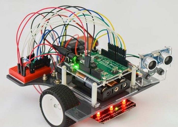 The Pi-Bot is a uniquely designed (and affordable!) complete robot kit for anyone interested in building and programming robots!