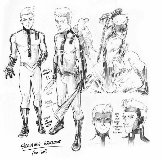 Stripling Warrior character design