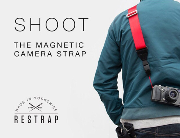 The Shoot strap: unbeatable strength and flexibility through the power of magnets.