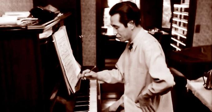 Composer Akira Ifukube. Photo Courtesy Erik Homenick