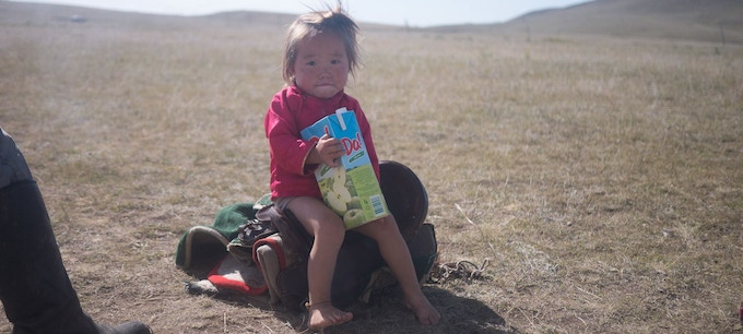This young alpha-tester gave Panda a go-ahead during our trip to Mongolia
