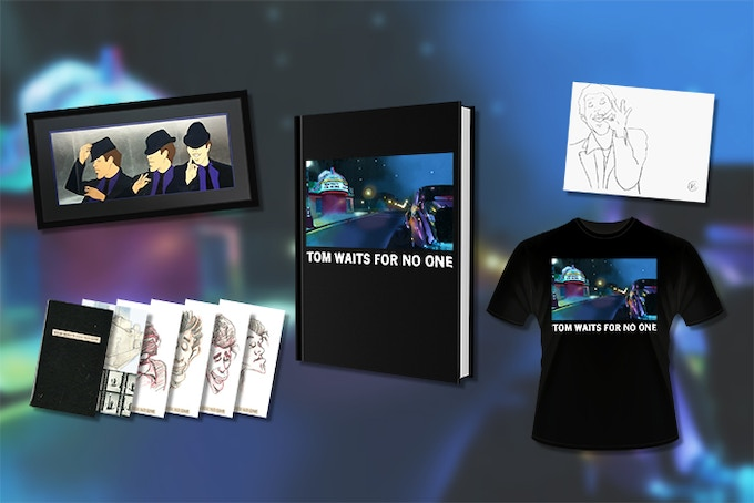 Animation cel sequence, Set of 6 postcards, The book, TWFNO t-shirt, Original rotoscope drawing