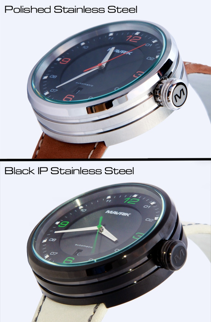 Polished and Black IP Stainless Steel Cases