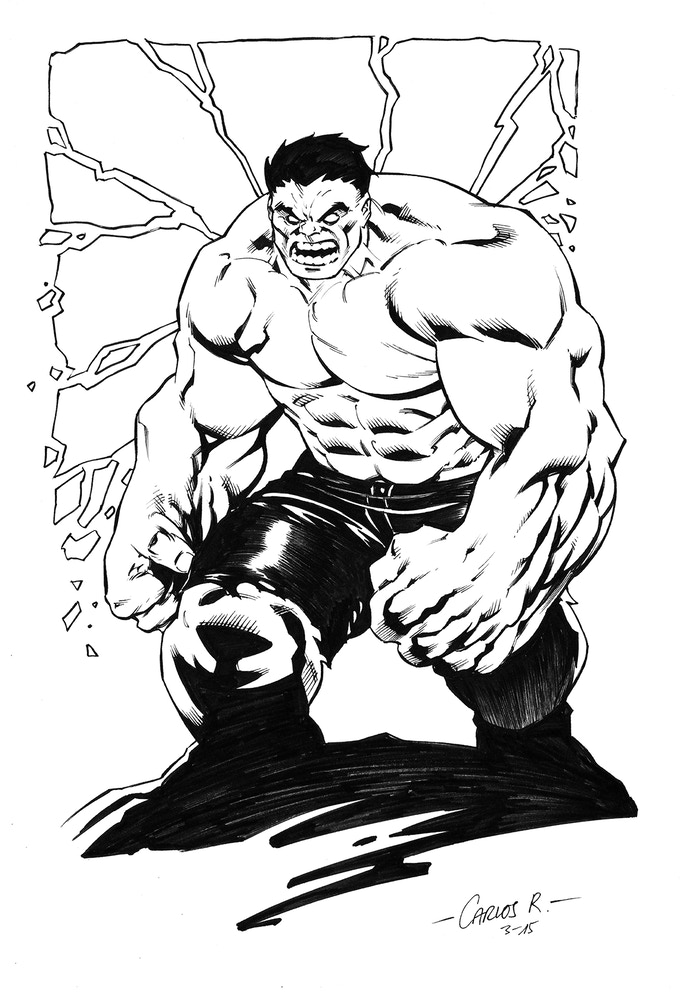 Hulk commission by Carlos Rodriguez
