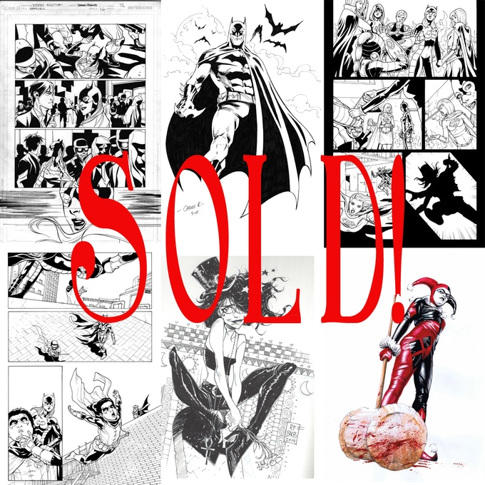 Many original art pieces have already sold!